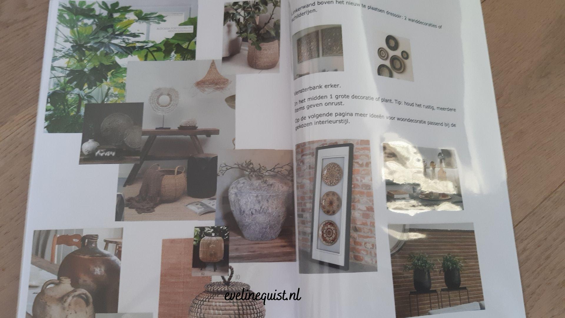 brochure bij interieurstijling advies